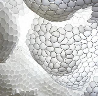 Museum installation using styrofoam cups. © Tara Donovan.