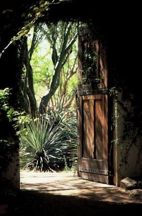 """A doorway at Tohono Chul--""""a corner of the desert"""" in Tucson."""