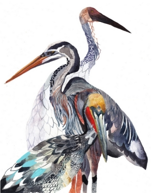 "© Michelle Morin, ""Cranes"""