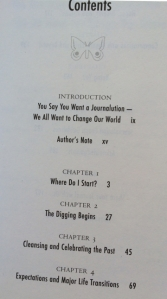 Table of Contents, page 1.