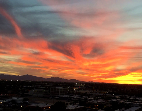 "Enjoy our amazing winter sunsets in Phoenix, along with this amazing retreat. ""John Fox is the most sensitive and effective teacher of poetic medicine I know. He listens to both poem and person deeply, and he is a master as guiding others."" --Courney Davis, NP Redding, CT"
